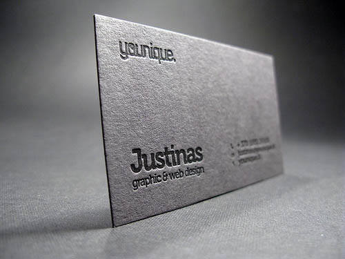 100 Best Letterpress Business Cards | Pixel Curse