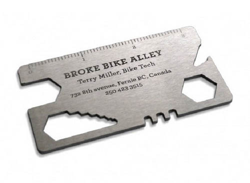 Broke Bike Alley's Metal Business Card50