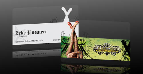Clear Business Card Design for Celebrity Tattoo and Piercing - Business Card44