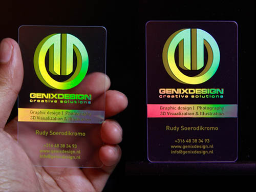 Coolest Holographic BusinessCard - Business Cards25