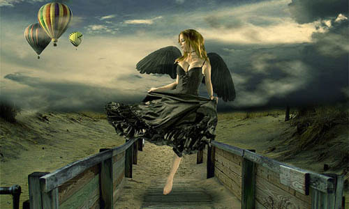 Surreal Composition Fallen Angel's Dream Fly18