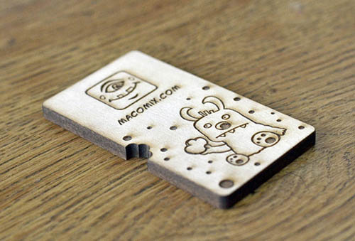Wooden Business Card2