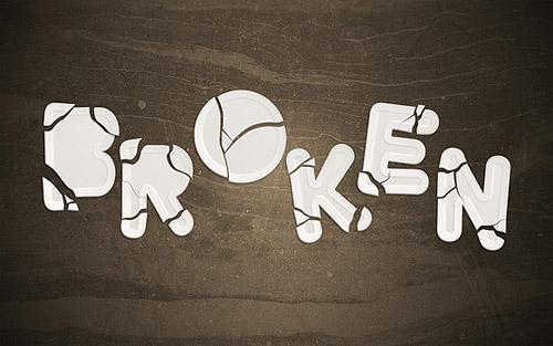 brokentexteffect