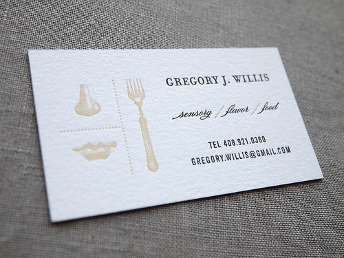 custom letterpress business card