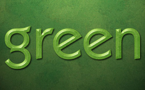 green-text-effect-photoshop