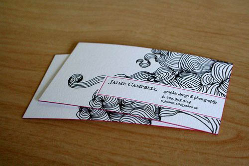 mybusinesscard97 custom letterpress calling card - Best Calling Cards