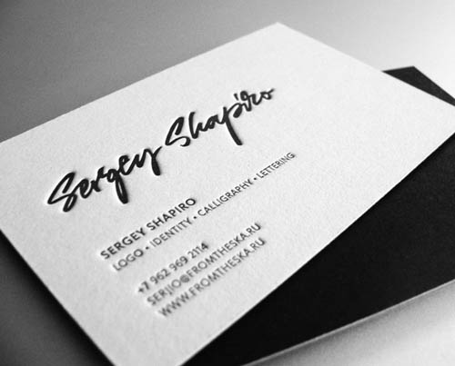 sergey shapiro business cards sergeyshapirobusinesscard92 - Letterpress Business Cards