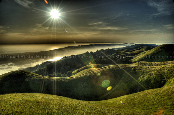 Setting sun from Mt Tamalpais55