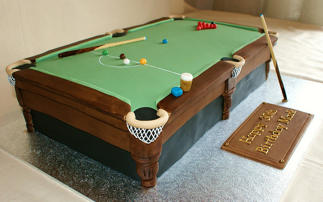 25 surprising birthday cake design ideas pixel curse - Table billard design ...