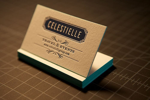 50 thick edge colored business cards pixel curse celestielle letterpress business cards reheart Image collections