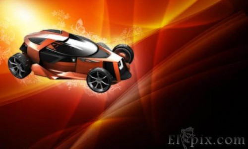 Creative car desktop wallpaper_50