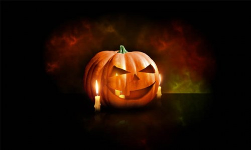 Design a Halloween Pumpkin Wallpaper in Photoshop _49
