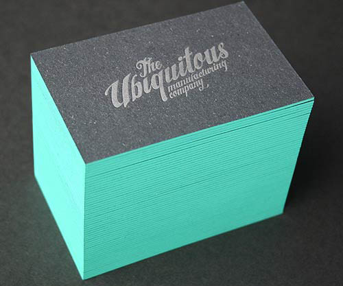 50 thick edge colored business cards pixel curse edge painted letterpress reheart