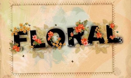 Floral Text Wallpaper_36
