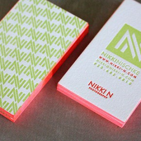50 Thick Edge Colored Business Cards