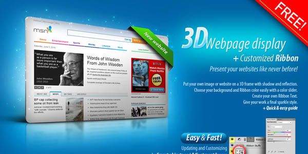 3D Web page Display by artbees_3
