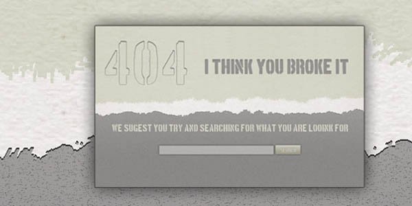 404 Error Page Web Element_49