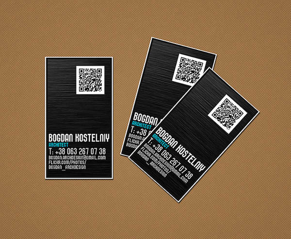 30 awesome qr code business cards pixel curse bogdan cards colourmoves Choice Image