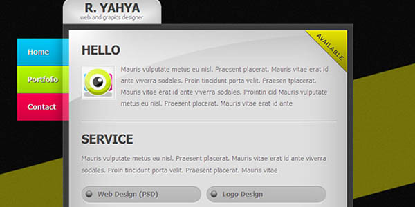 Clean vCard A Free Professional XHTMLCSS vCard Template_6