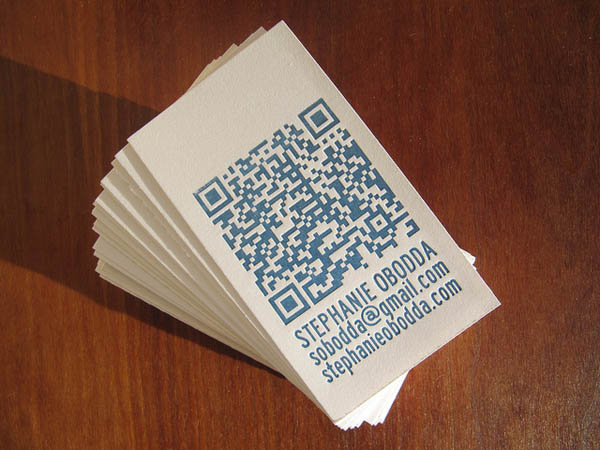Letterpress Business Cards with QR Code_4