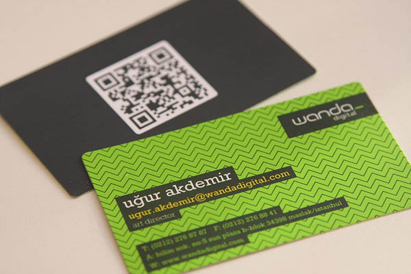 30 awesome qr code business cards pixel curse new qr code business card reheart Image collections