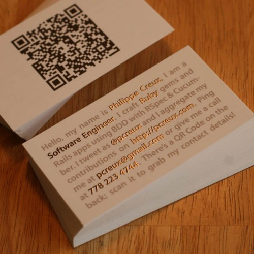 30 awesome qr code business cards pixel curse reheart Images