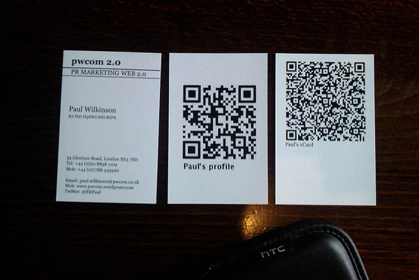 30 awesome qr code business cards pixel curse qr code business card reheart Images