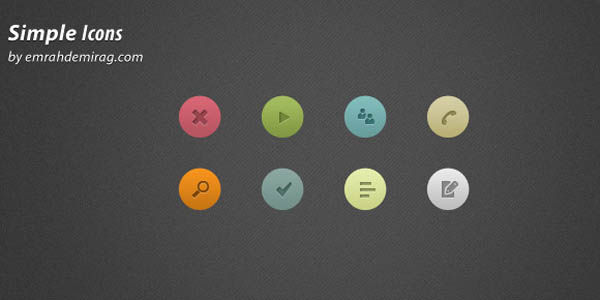 Simple Icons Set PSD_62
