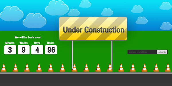 Under Construction Splash Page  Web Element_45