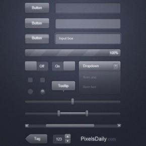 110 Free PSD Web Design Elements