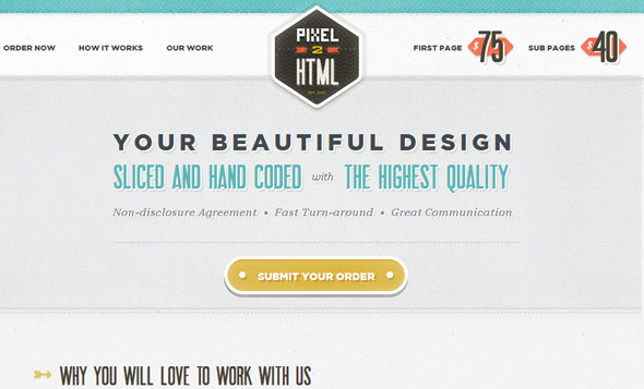 pixel to html