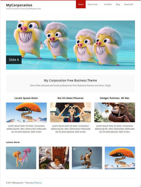 free wordpresss theme 2011