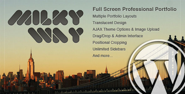 Milky Way - Full Screen Professional Portfolio