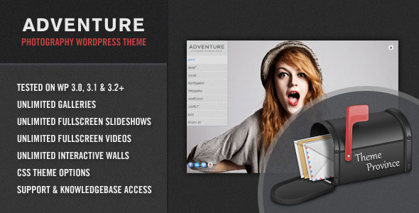Adventure - A Unique Photography WordPress Theme