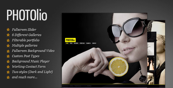 Photolio - Photography / Portfolio WordPress Theme