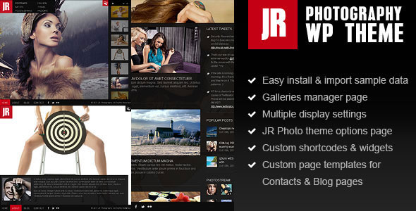 JR Photography WordPress Theme
