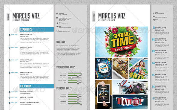 creative photographer resume cover letter portfolio template