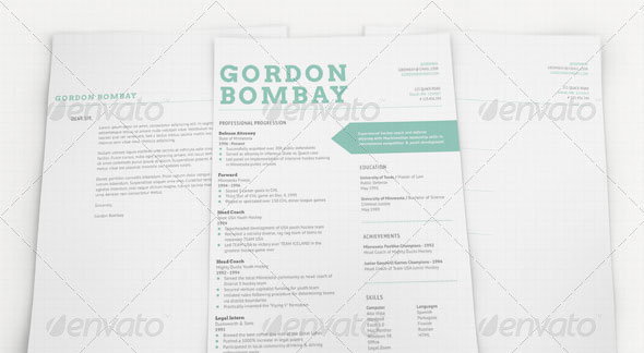 modern typographic resume set