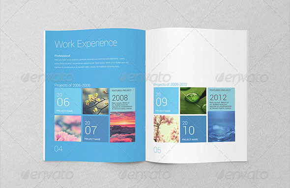 Metro Inspired Clean Resume Booklet (8 Pages)