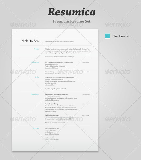 Resumica Resume Set