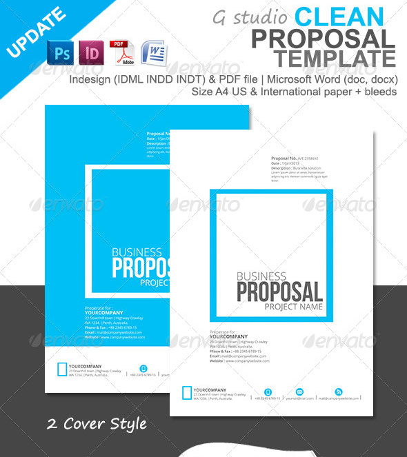 Web design proposal template word accmission Images