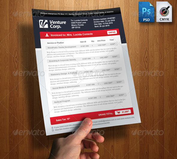 Download Invoice Template Modern  RabitahNet