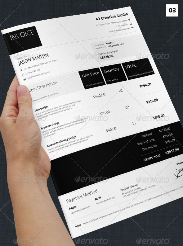 download invoice template modern | rabitah, Invoice templates