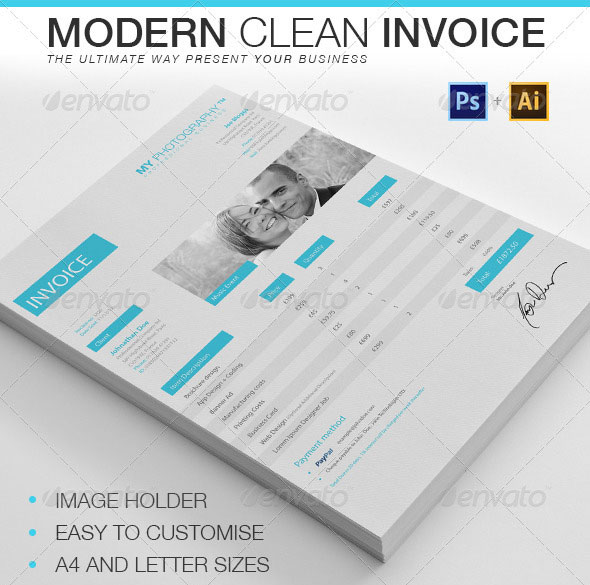 Modern Clean Invoice  Proposal Layouts