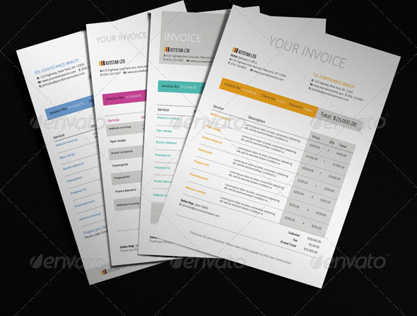 20 beautifully designed indesign invoice templates | pixel curse, Invoice templates