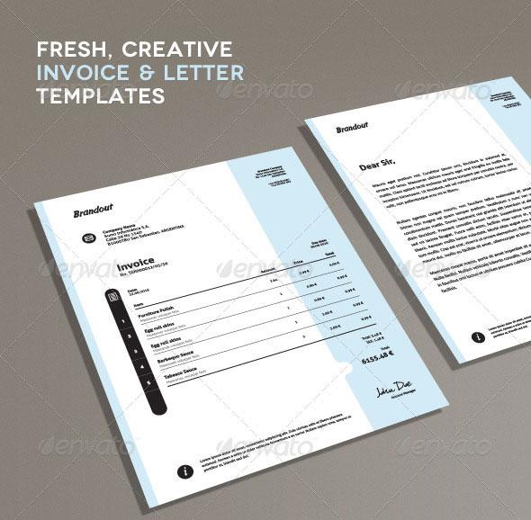 Creative Book Design Template ~ Beautifully designed indesign invoice templates pixel