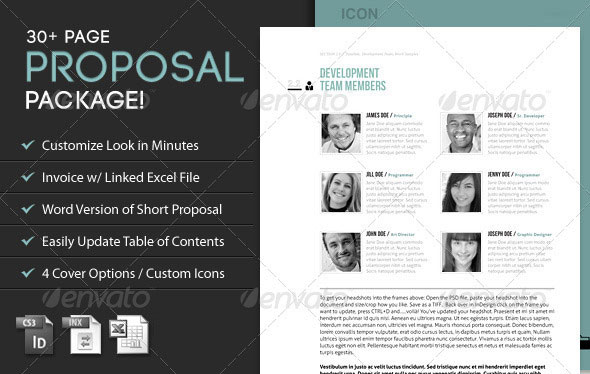 Icon: Proposal Template w/ Invoice