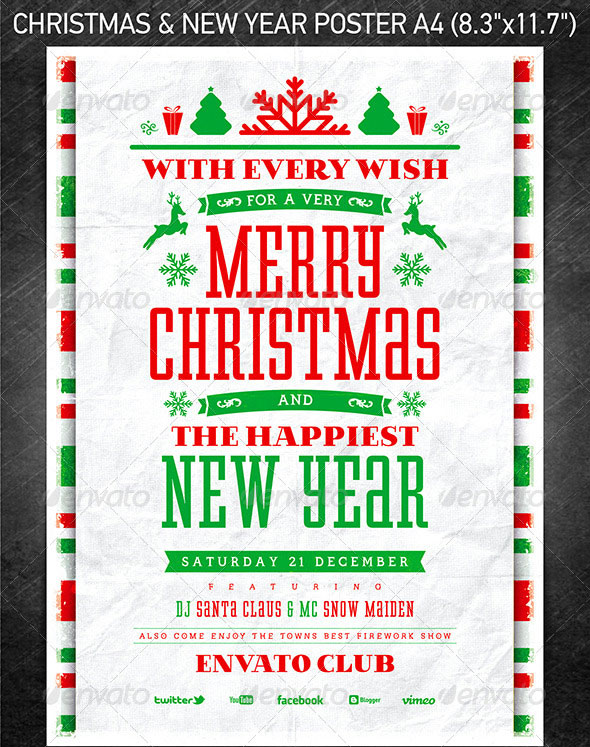 Christmas Holiday Psd  Ai Flyer Templates  Pixel Curse