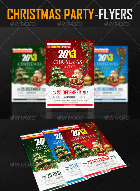 30 christmas holiday psd  u0026 ai flyer templates