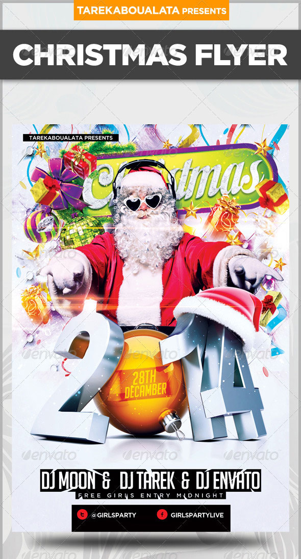 2014 NYE or Christmas Party Flyer Template